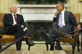 oval office july 2015. In This Photo Taken July 7, 2015, President Barack Obama Meets With Vietnamese Communist Oval Office 2015 N