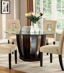 glass top round dining table furniture of west palm i contemporary espresso finish tempered glass top