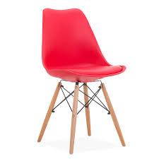 orange plastic chair. WOODEN CUSHY Chair Orange Plastic