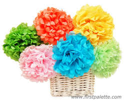 Flower Making With Crepe Paper Step By Step Mexican Tissue Paper Flowers Craft Kids Crafts Firstpalette Com