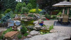 Cool backyard pond design ideas for you who likes nature Swimming Ron Loves Water And Found Creative Way To Sprinkle It Into His Landscape When Asked What He Loved Most About His Water Feature Rons Answer Was Sawyer Waterscaping Pond Build Portfolio Aquascape Construction
