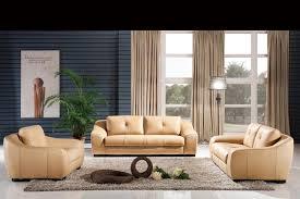 Classic 1+2+3 latest Modern Desgin High Back luxury Top Grain Cattle Leather