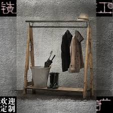 furniture for hanging clothes. solid wood frame home in retro clothing iron floorglove hanging rack clothes and furniture for