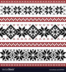 Nordic Pattern Impressive Nordic Pattern Royalty Free Vector Image VectorStock