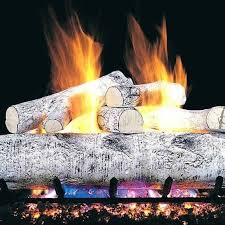 gas fireplace logs in birch for your hearth