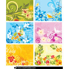 Free Floral Backgrounds Vector For Free Use Beautiful Floral Background Set