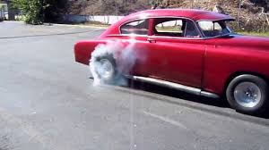 52 chevy fastback burnout - YouTube