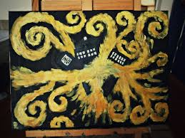 exploding tardis doctor who vincent van gogh painting