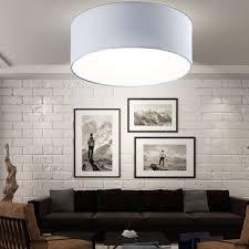 Design Decken Leuchte Schlafzimmer Strahler Textil Lampe Rund Grau