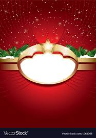 Blank Christmas Background Christmas Background With Blank Label Royalty Free Vector