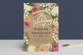 Wedding Invitatiins Floral Canopy Foil Pressed Wedding Invitations By Griffinbell Paper