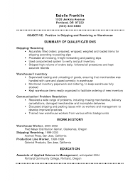resume examples shipping resume sample shipping resume sample   resume examples shipping resume sample summary of qualifications and education or work history in