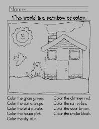 Following Directions Coloring Worksheets For Kids - Color of Love ...