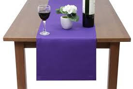 polycotton table runner bottle green