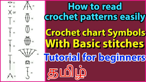 How To Read Crochet Patterns By Understanding Crochet Symbols With Basic Stitches Tutorial Beginners