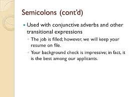 7 Semicolons ...