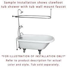 clawfoot bathtub shower kit satin nickel tub faucet shower kit with enclosure curtain rod clawfoot tub clawfoot bathtub shower kit