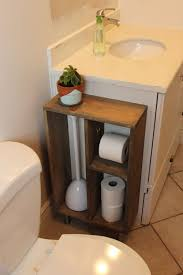 building your own bathroom vanity. Hide Unsightly Toilet Items With This DIY Side Vanity Storage Unit Building Your Own Bathroom N