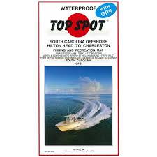 Top Spot Fishing Map N235 Hilton Head To Charleston