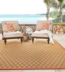 indoor and outdoor rugs tangier color persimmon