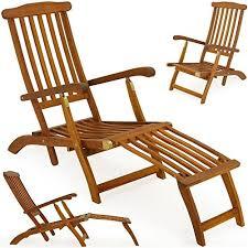 garden lounger sun lounger wooden outdoor recliner queen mary longchair acacia deck chair sunbed b0040q5o06