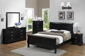 Superior Louis Philip   Black Twin Bed