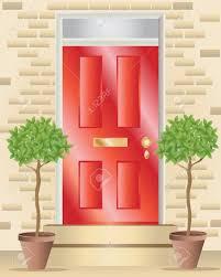 house door clipart. Glancing House Door Clipart B