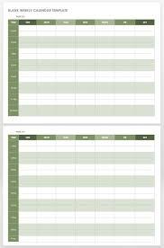 Blank Weekly Calendar 15 Free Weekly Calendar Templates Smartsheet