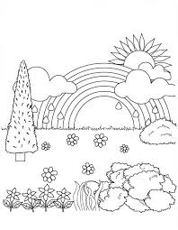 Nature Coloring Pages For Children Coloringstar