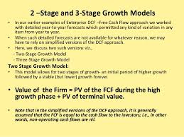 Dcf Valuation Example Enterprise Dcf Valuation 2 Stage And 3 Stage