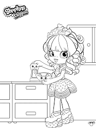Shopkins Shoppies Coloring Pages Happy Places Free Printable