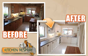 kitchen resprays finish is factory like and never chips it is