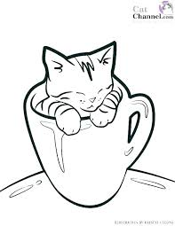 kitten coloring pages cute kitty