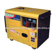 China Diesel generator with silent function of 186f engine for home