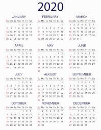 Calendar 2020 Printable With Holidays Pdf Word Excel