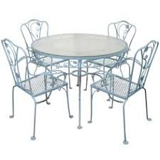 salterini wrought iron furniture. 1stdibs vintage salterini wrought iron table and chairs in powder blue furniture
