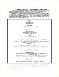 Impressive Sample Of High School Resume For Scholarships Also Sample