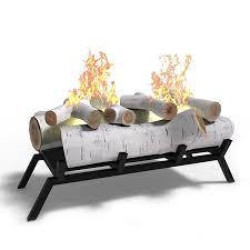 birch convert to ethanol fireplace log set with burner insert from gel to gas logs