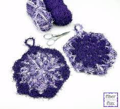 Free Crochet Patterns For Scrubbies Gorgeous Fiber Flux Free Crochet PatternHexagon Scrubbies