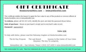 Gift Certificate Wording Gift Certificate Wording 24171763164 Gift Certificate Wording