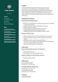 Cv templates for domestic and international job seekers. Pharmacist Resume Examples Writing Tips 2021 Free Guide