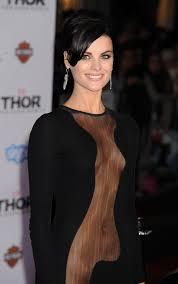 See Thru Tv Jaimie Alexander See Thru Dress At Thor The Dark World Premiere In