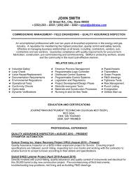 Quality Inspector Resume Gorgeous Quality Assurance Inspector Resume Sample Template