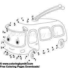 Alphabet Dot To Dot Game Cable Car Coloring Page 1222 Ultimate