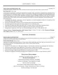 Sample Resume For Restaurant Manager Restaurant General Manager Resume sraddme 33