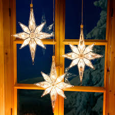 Led Fensterdeko Winterstern 3er Set