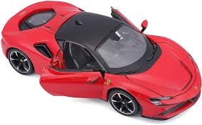 The car is offered with fastback coupe, retractable hard top body shapes since the year 2019. Amazon Com Ferrari Sf90 Stradale Red With Black Top 1 24 Diecast Model Car By Bburago 26028 Toys Games