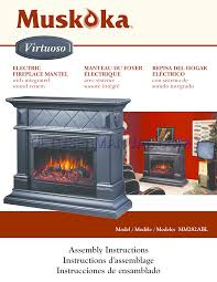 greenway home s indoor fireplace muskoka mm282abl user manual free electric insert
