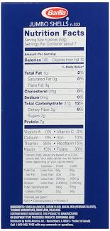 amazon barilla jumbo ss pasta 12 oz italian foo recipe barilla pasta nutrition facts