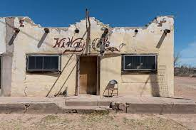 The long-closed HiWay Cafe in Van Horn ...